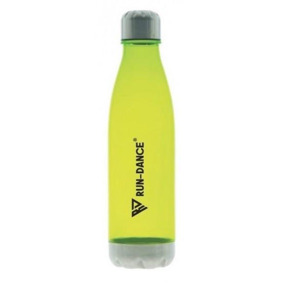 Sportovní lahev RUN-DANCE reflexní zelená, průsvitná