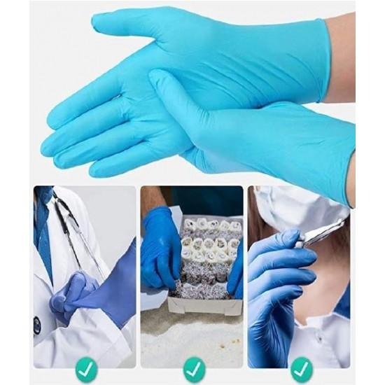 Medical jednorázové PVC rukavice  ze syntetizovaného nitrilonového kaučuku  nepudrované, velikost M